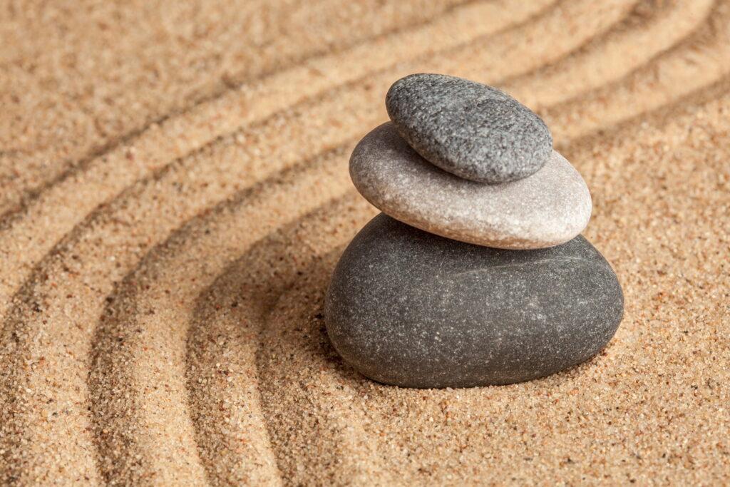 Zen stones balanced - learn kung fu online
