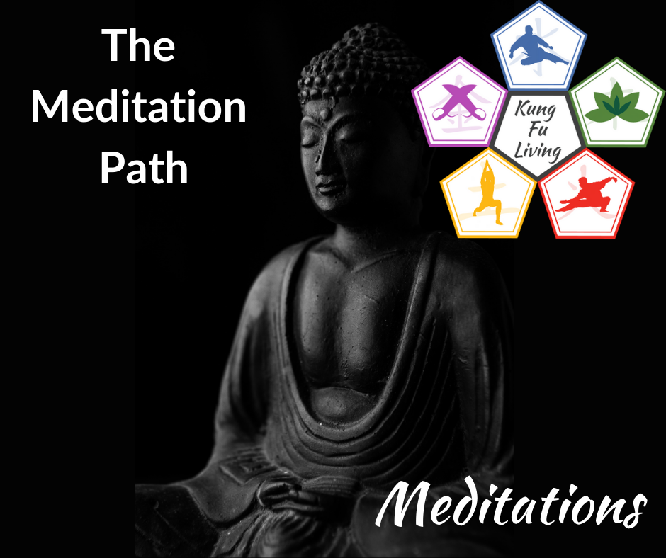 Kung Fu Living meditation path buddha statue meditating peacefully